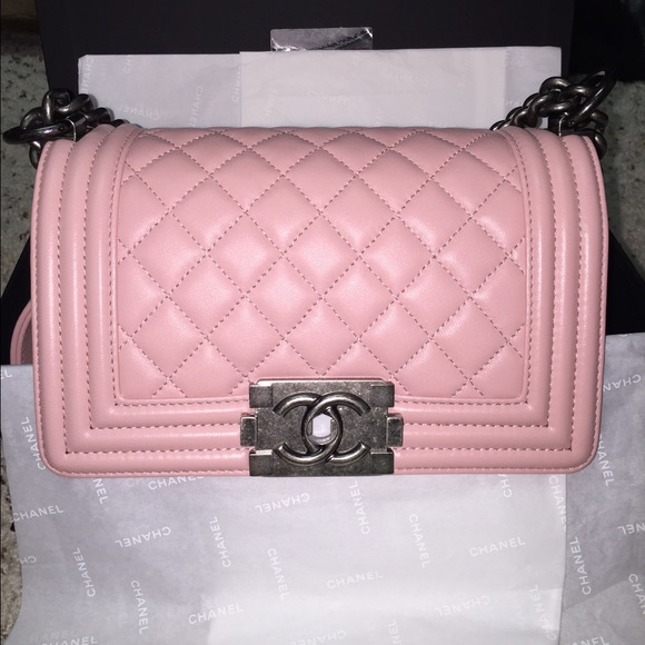 3e9042ad81c3 CHANEL Bags | New Auth Boy Pink Lambskin Leather Small | Poshmark