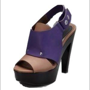 Marni Tan+Purple Heel