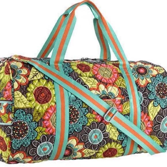 NWT Vera Bradley Round Duffle Bag