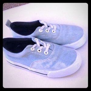 Denim acid wash slip on shoes *unisex* for kids