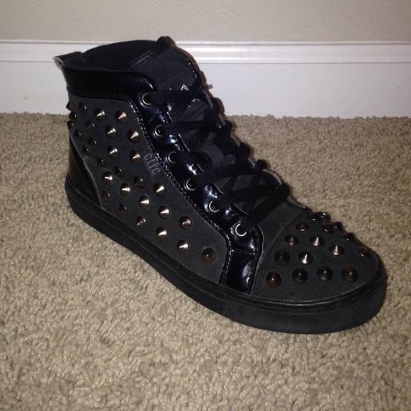 C.T.T.C Shoes | Black Strap Spiky Boots