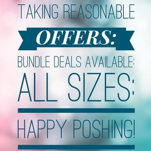 TAKING REASONABLE OFFERS:BUNDLE DEALS AVAILABLE