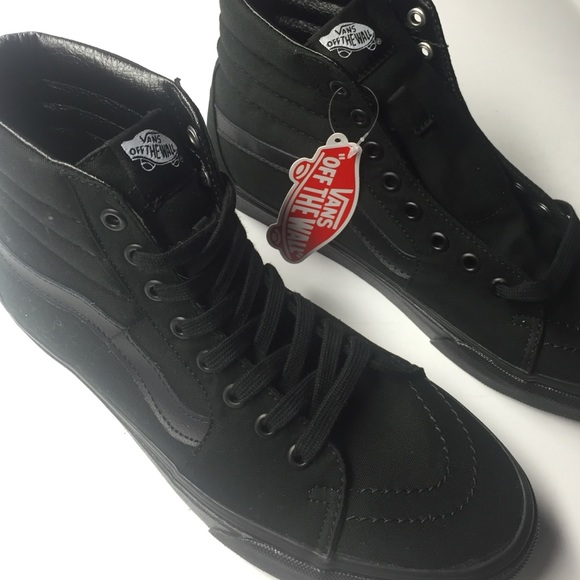 37% off Vans Shoes - solid black vans sk8-hi's from Sara's closet ...