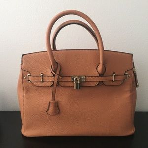 Large Tan Satchel Tote