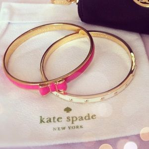 Kate spade cream gold dotted bangle