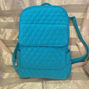 Vera Bradley Quilted Backpack  Tote
