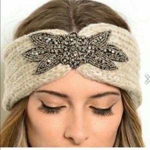 Accessories - Burgundy Embellished Head Warmer