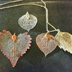 Jewelry - Gold plated REAL leaves