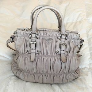 4837efacd196 68% off Prada Handbags - Prada Gaufre Nappa Leather Tote in Taupe .
