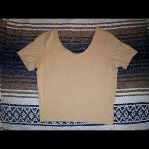 AA nude/beige crop top