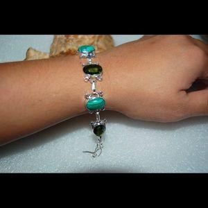 "handmade & handcrafted gemstone jewelry Jewelry - ✂️SALE✂️Fun and Vibrant Statement Bracelet 8"""