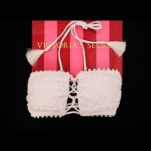 Victoria's Secret White Lace Bandeau Bikini Top!!!