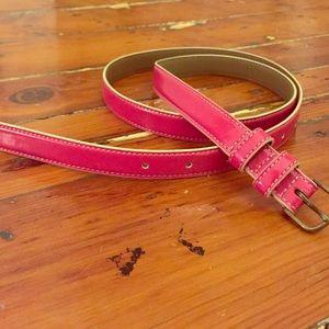 J.Crew women's pink patent leather belt
