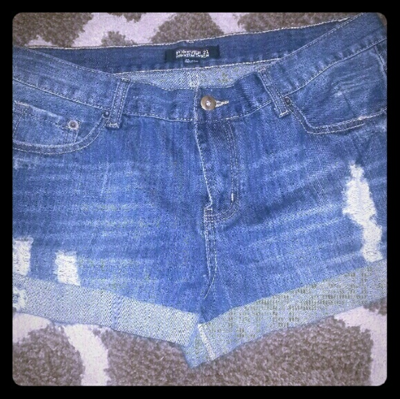 Forever 21 Pants - Blue Jean Shorts