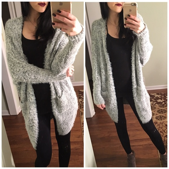 9217484ee26 LAST ONE❗️❗️• Soft gray fuzzy cardigan • Boutique