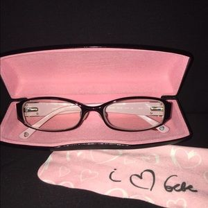 Bebe Eyeglass Frames 2015 : bebe - BEBE Eyeglass Frames with Crystals and Pink Accent ...