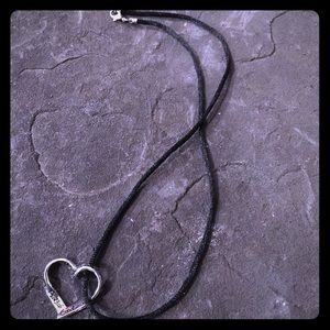 Jewelry - Heart necklace with Psalm 23:6 and Psalm 46:1