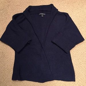 BR Cashmere Blend Elbow Sleeve Open Cardigan