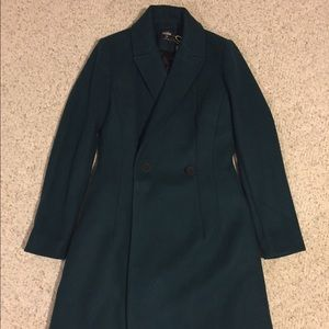 Kate spade Saturday coat in teal green 00 NWT
