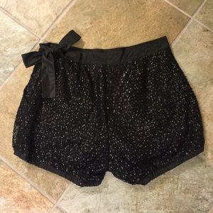 Beautiful sequins j crew dressy shorts