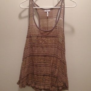 Tops - Brown Lace Tank