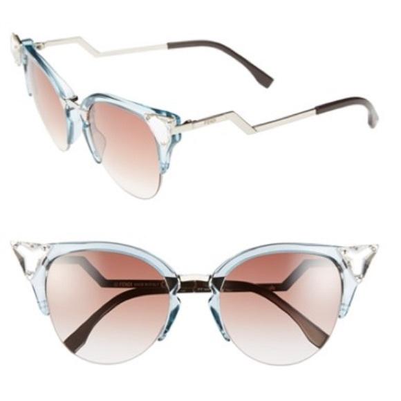 b850ec0523408 FENDI Accessories - Fendi Crystal 52mm tipped cat eye sunglasses