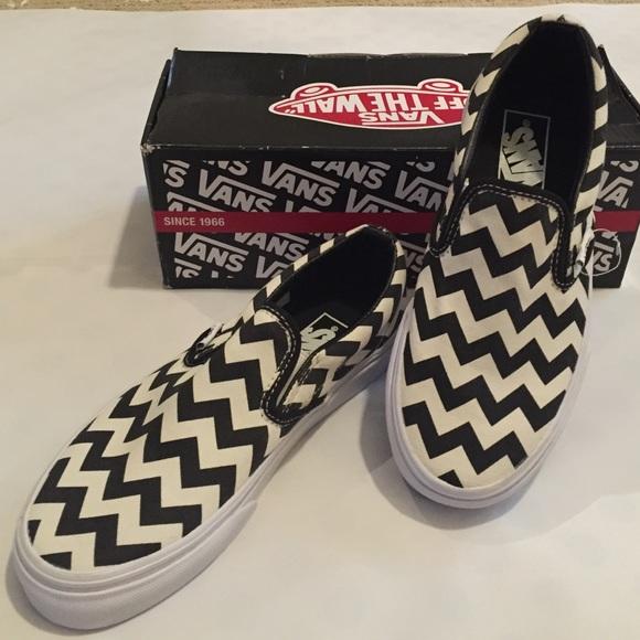 87a3132fdce0 Vans Shoes   Nwb Chevron Slipon Sneakers   Poshmark