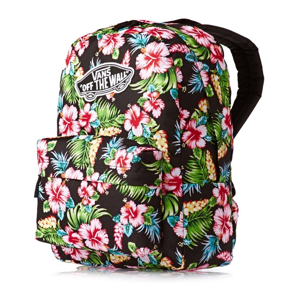 830bbfaf66 Vans Realm Black Hawaiian Backpack. M 567259a47eb29f535400aee7