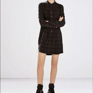 ZARA long sleeve check dress