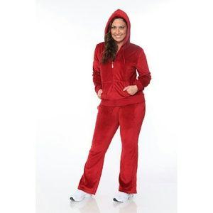 Pants - Red Plus Size Jogging Suit Lounge Set XXL