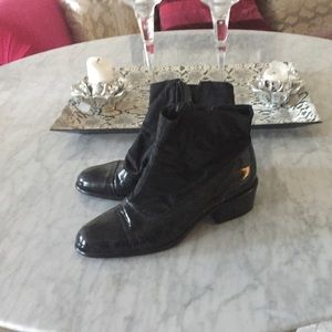 Prada patent leather booties size 38 1/2