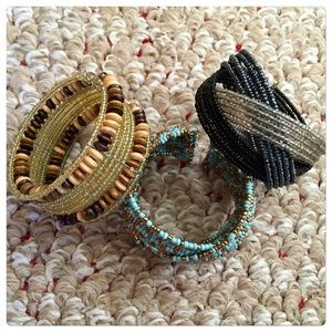 Urban Outfitters Jewelry - 🆕 Set of 3 boho cuff bracelet