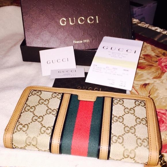 f37a9fad0055ad Gucci Bags | Rania Original Gg Zip Around Wallet In Tan | Poshmark