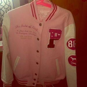 83a17499f52d1 Rich PINK Girls Varsity jacket