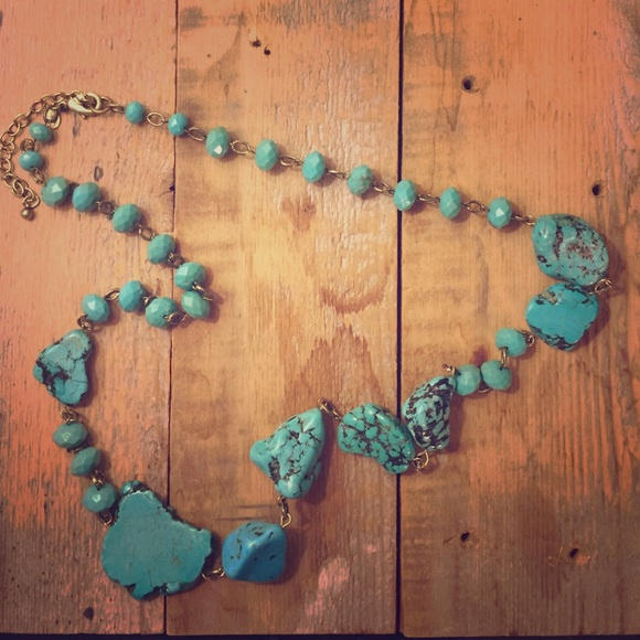 Chico S Jewelry Sale Chicos Turquoise Long Beaded Chunky