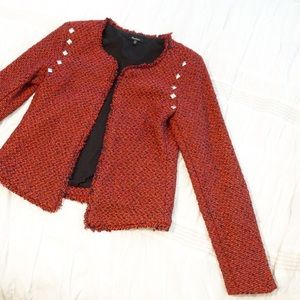 Adorable Red Blazer with studs!