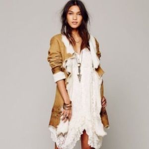 Free People Ivory Prairie Ruffle Lace Dress