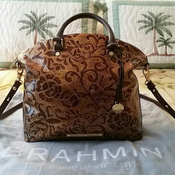 3f77916997c9 Brahmin Handbags - SALE! Brahmin Large Duxbury Satchel Bronze Gatsby