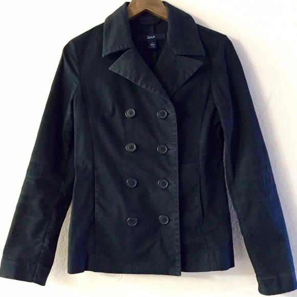 68% off GAP Jackets & Blazers - GAP Pea Coat Jacket Black Extra ...
