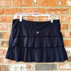 lululemon athletica Dresses & Skirts - LULULEMON Black PACE SETTER SKIRT