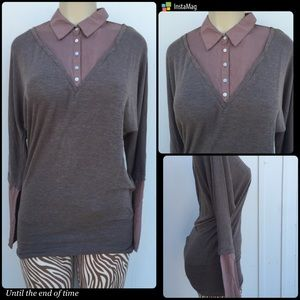 Tops - ❤Two toned sweater top