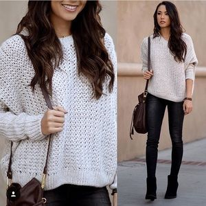 Cream Boxy Sweater