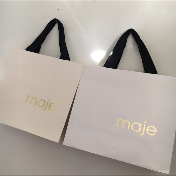 82% off Maje Handbags - 💛2 medium Maje shopping bags💛 from ...
