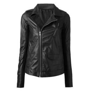 Rick Owens Jackets & Blazers - Rick Owens black Leather motorcycle Jacket acne