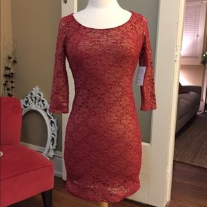 Dresses & Skirts - Red Lace Backless Dress