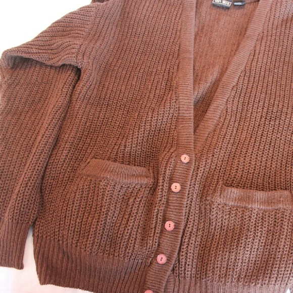 67% off Van Art Sweaters - Thick Brown Cardigan from Harper's ...