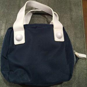 Estee Lauder Handbags - Small navy and white cosmetic bag
