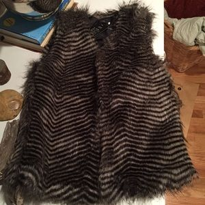 Faux fur vest! Super cute and stylish!
