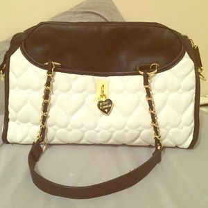 Betsey Johnson heart quilted purse!