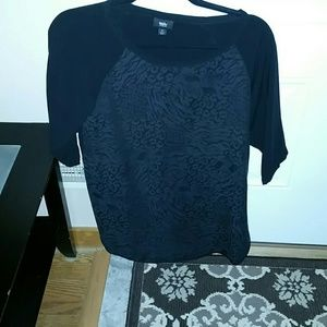 Black with leopard design tunic